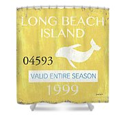 Beach Badge Long Beach Island 2 Shower Curtain