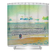Beach Ball And Swimmers Shower Curtain