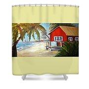 Beach Ball Resort Shower Curtain