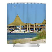Beach Bar Shower Curtain