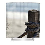 Beach Barrier Shower Curtain