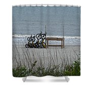 Beach Bicycles Shower Curtain