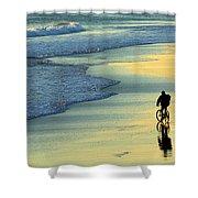 Beach Biker Shower Curtain