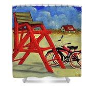 Beach Bikes Shower Curtain