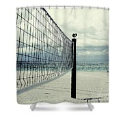 Beach Bird Shower Curtain