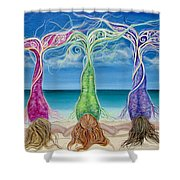 Beach Bliss Buddies Shower Curtain