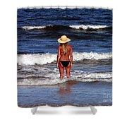 Beach Blonde - Digital Art Shower Curtain
