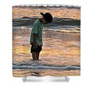 Beach Boy Shower Curtain