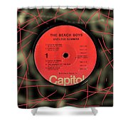 Beach Boys Endless Summer Lp Label Shower Curtain