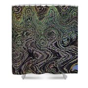 Beach Bubbles Abstract Shower Curtain