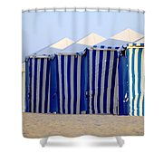 Beach Cabanas Shower Curtain