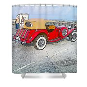 Beach Car Shower Curtain