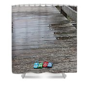 Beach Cars Shower Curtain