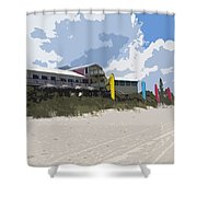 Beach Casino Shower Curtain