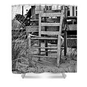 Beach Chair Shower Curtain