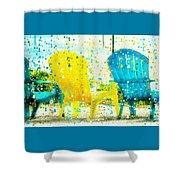 Beach Chair Print Shower Curtain