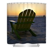 Beach Chair Sunset Shower Curtain