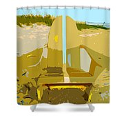 Beach Chair Work Number 3 Shower Curtain