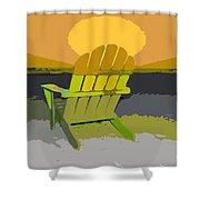 Beach Chair Work Number Seven Shower Curtain