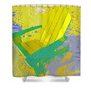 Beach Chair Work Number Six Shower Curtain
