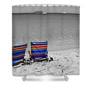 Beach Chairs 2  Shower Curtain