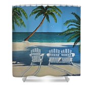 Beach Chairs No. 1 Shower Curtain