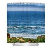 Beach Cloud Streak Shower Curtain