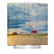 Beach Clouds Shower Curtain