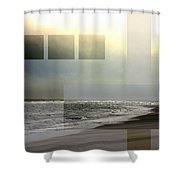 Beach Collage 2 Shower Curtain