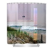Beach Collage 3 Shower Curtain