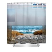 Beach Collage Shower Curtain