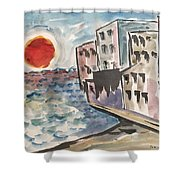 Beach Condos Shower Curtain