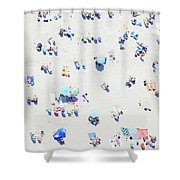 Beach Confetti Shower Curtain