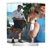 Beach Cops And Christ Shower Curtain