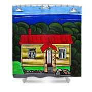 Beach Cottage Shower Curtain