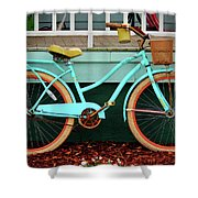 Beach Cruiser Bike Shower Curtain