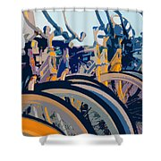 Beach Cruisers At Dawn Shower Curtain