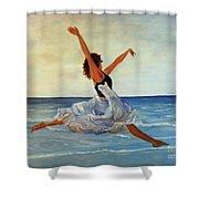Beach Dancer Shower Curtain