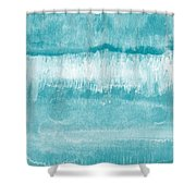 Beach Day Blue- Art By Linda Woods Shower Curtain