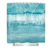 Beach Day Blue- Art By Linda Woods Shower Curtain