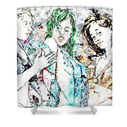 Beach, Digital Shower Curtain
