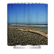 Beach Driftwood Shower Curtain