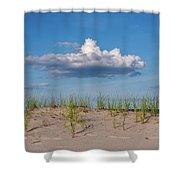 Beach Dune Clouds Jersey Shore Shower Curtain