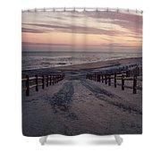 Beach Entrance Lbi New Jersey Vintage  Shower Curtain