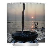 Beach Evenings Shower Curtain