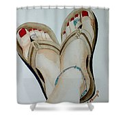 Beach Feet Shower Curtain