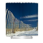 Beach Fence And Snow Shower Curtain
