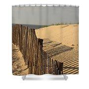 Beach Fence, Cape Cod Shower Curtain