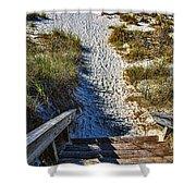 Beach Footprints - Boca Grande Florida Shower Curtain