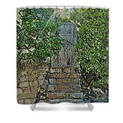 Beach Gate In The Morning Shower Curtain